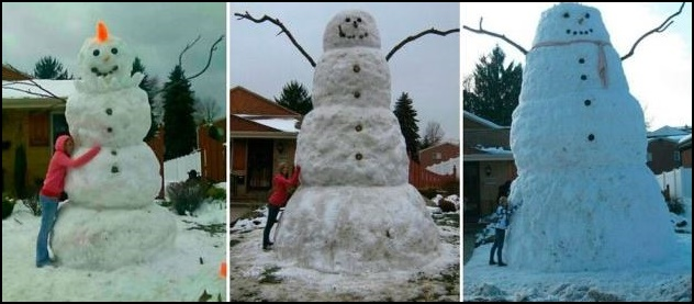 3x sněhulák