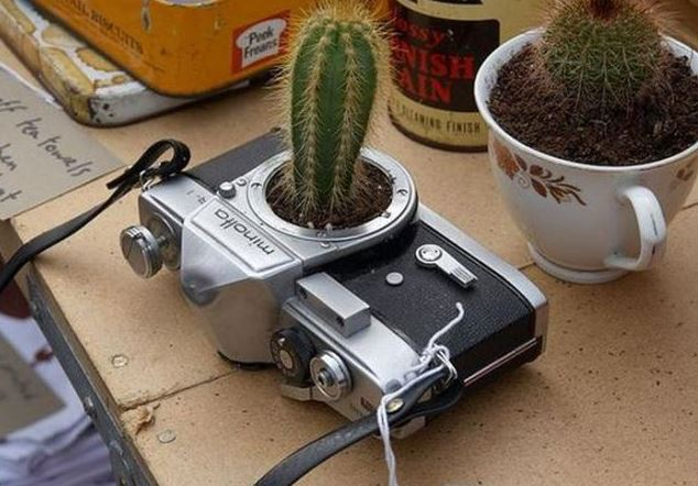 Květináč z fotoaparátu