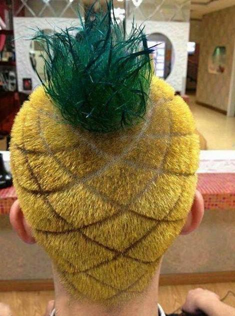 Ananasový účes