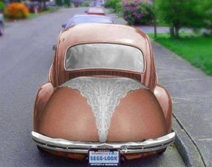 Auto, které nosí kalhotky tanga