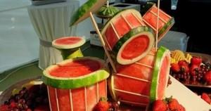 Bicí souprava z melounů