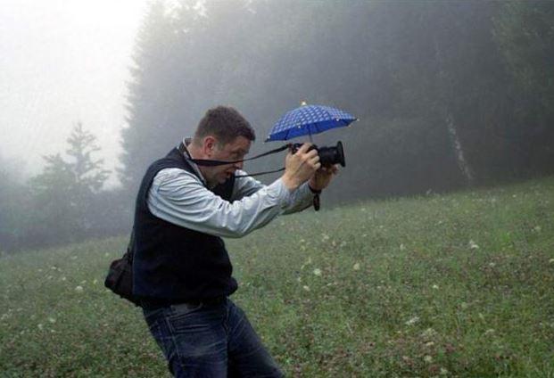 Deštníček na fotoaparát
