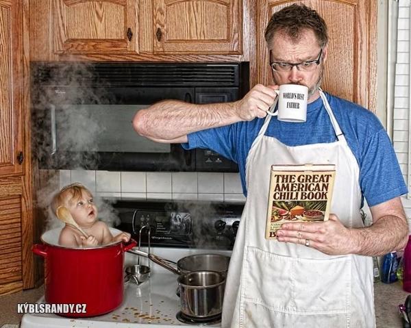 Dneska vaří táta