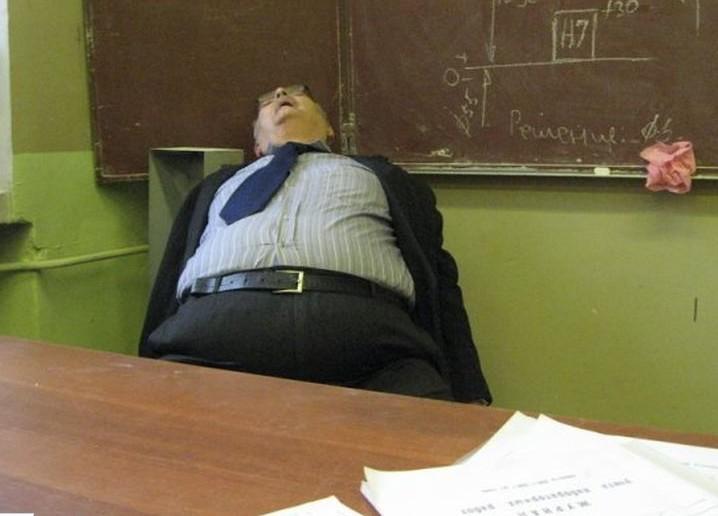 Spící učitel - dobrý učitel
