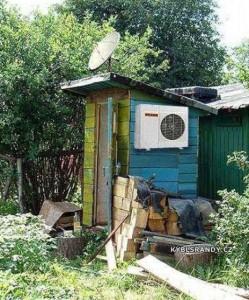 Mini domek se satelitem
