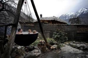 Horká koupel v horách