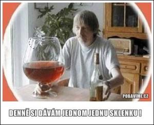 Jen jednu sklenku alkoholu denně!