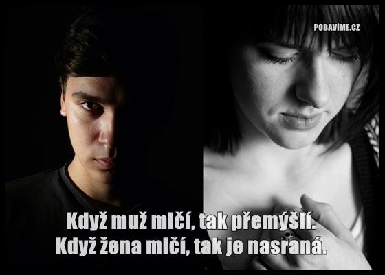 Když muž a žena mlčí