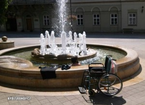 Když se koupe vozíčkář