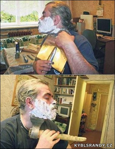 Když se muž holí