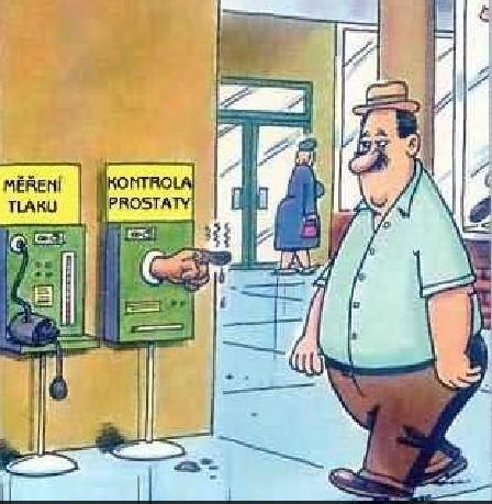 Měření tlaku, kontrola prostaty