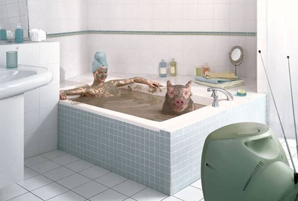 Koupel s čuníkem