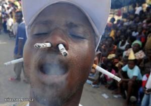 Kouření nosem a ušima