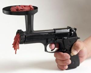 Pistolový mlýnek na maso