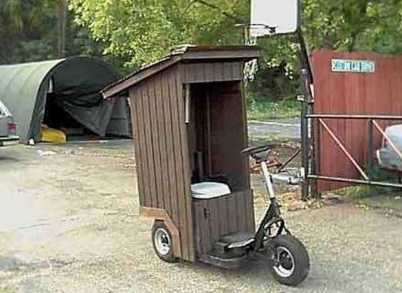 Mobilní WC na kolečkách