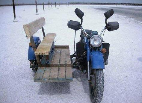 Motorka s lavičkou
