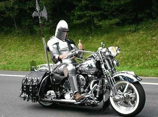Motorkář rytíř
