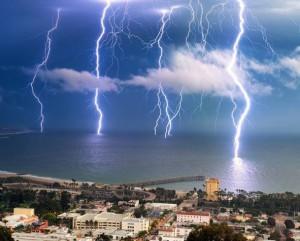 Neuvěřitelná bouřka - blesky
