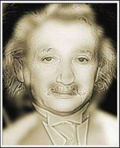 Optický klam Albert Einstein a Marilyn Monroe