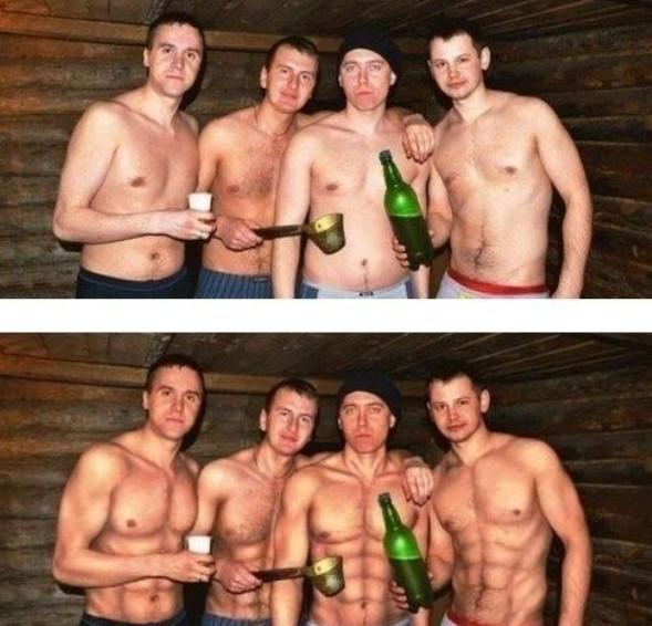 Z každého muže udělá Photoshop svalnatce