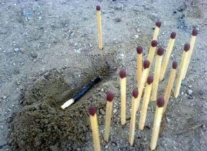 Pohřbívání sirky