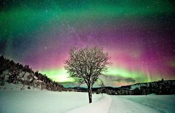 Nádherná polární záře