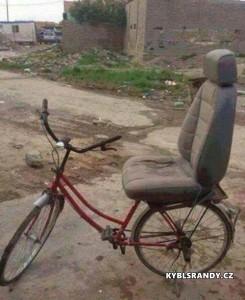 Pořádná sedačka na kole