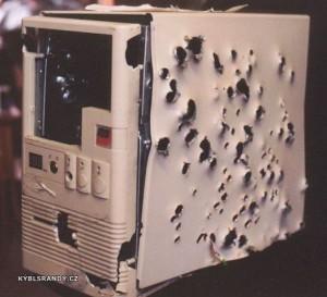Rozstřílený počítač