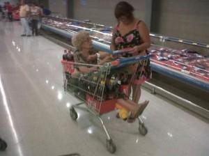 S babkou na nákup