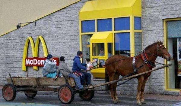 S povozem do McDonaldu