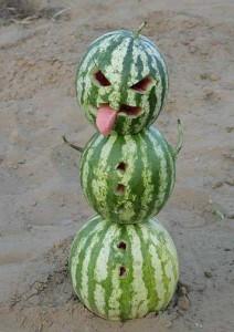 Sněhulák z melounů