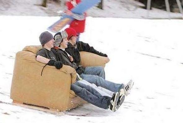 Šílená jízda na sedačce