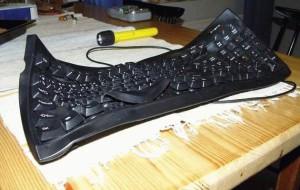 Skřivená klávesnice