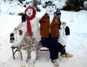 Sněhuláčí rodina