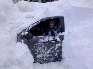 Tady teda napadlo sněhu!