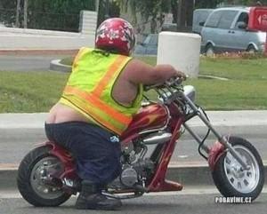 Těžká tonáž na motorce
