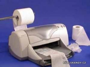 Tiskneme na toaletní papír