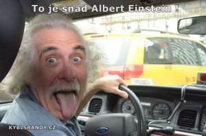 To je snad Albert Einstein