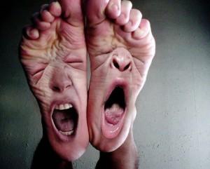 Ukřičené nohy