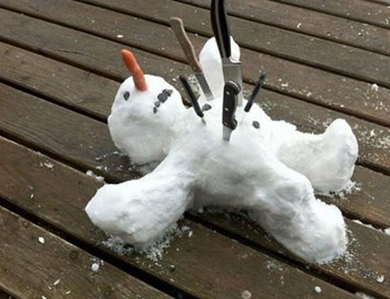 Usmrcený sněhulák