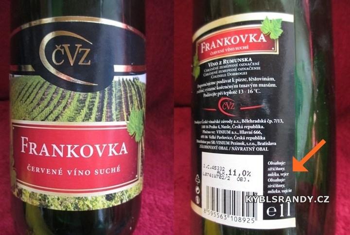 Tohle víno obsahuje mléko a vejce!