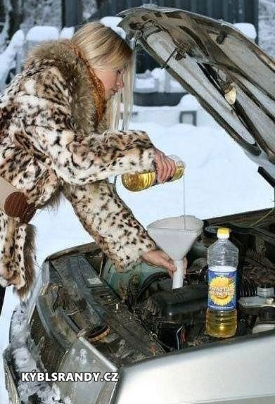 Výměna oleje v automobilu