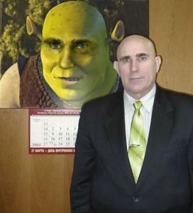 Vypadá jako Shrek