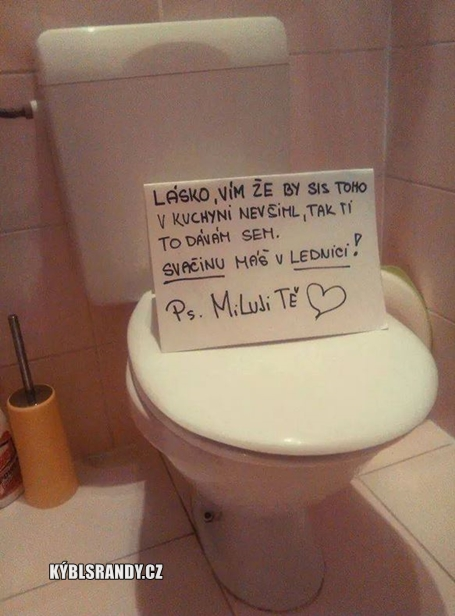 Vzkaz na záchodě