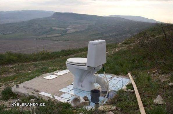 WC s krásnou vyhlídkou