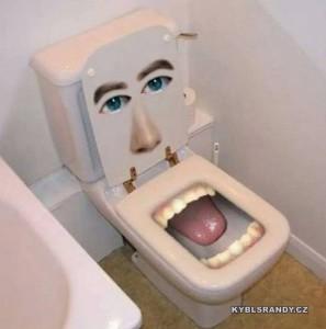 Záchod s jazykem
