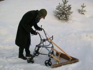 Zajímavý odhrnovač sněhu