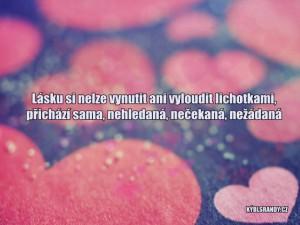 Lásku si nelze vynutit ani vyloudit lichotkami