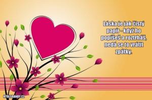 Láska je jak čistý papír