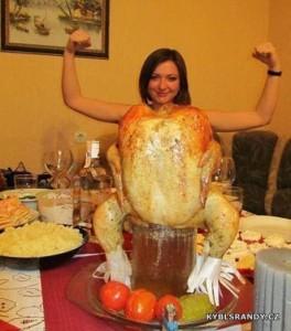 Žena kuře